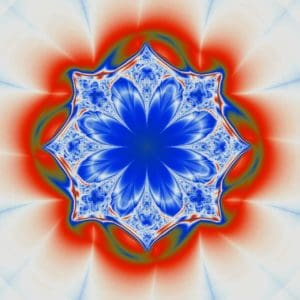 human ego ascension 101 blue-white-red mandala