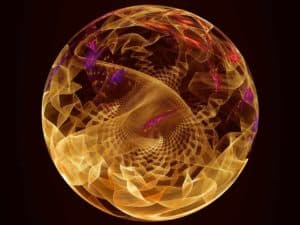 holographic construct ascension science golden sphere abstract image