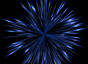 quantum energy ascension science blue burst on black background abstract image