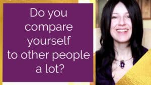 Do you compare yourself to other people a lot?